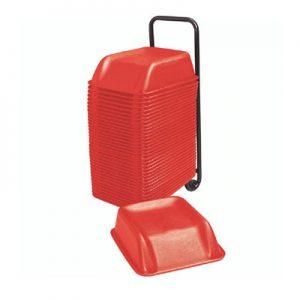Alzadores infantiles para butacas de color rojo en liquidación - Alzadores Korflip